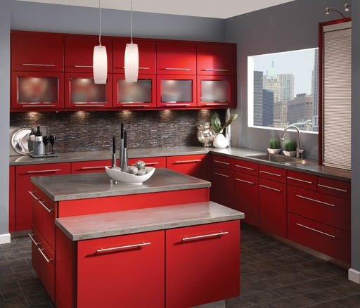 Superieur Kraftmaid Avery Maple Kitchen In Cardinal